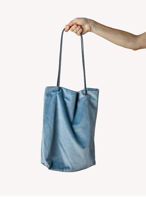 artisanne sac bleu clair