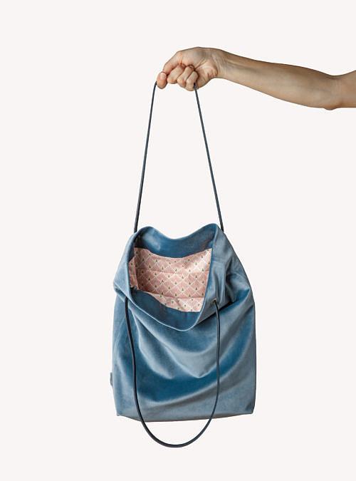 artisanne sac bleu clair ouvert