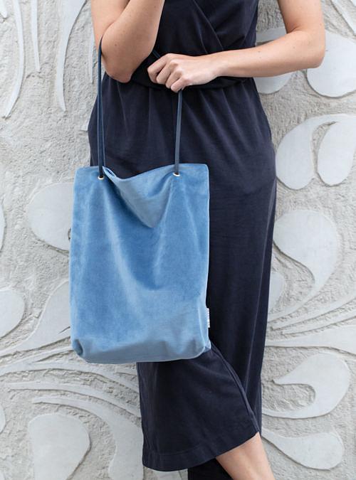 artisanne sac bleu clair porte