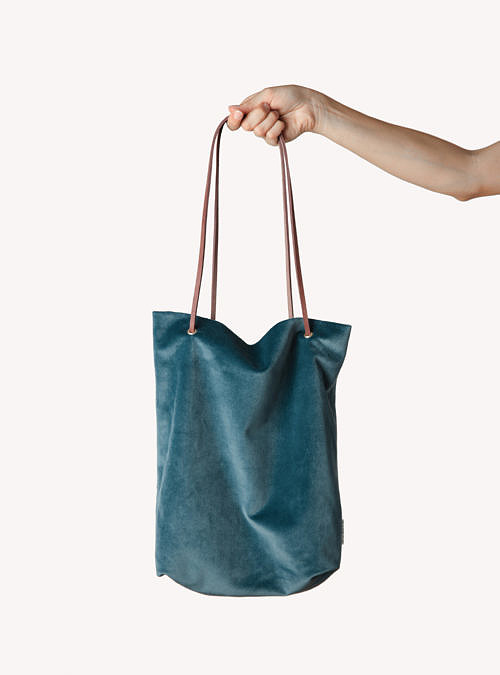 artisanne sac bleu petrole