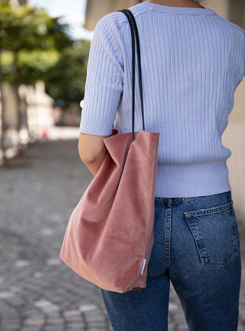 artisanne sac rose clair porte