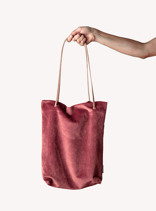 artisanne sac rose framboise