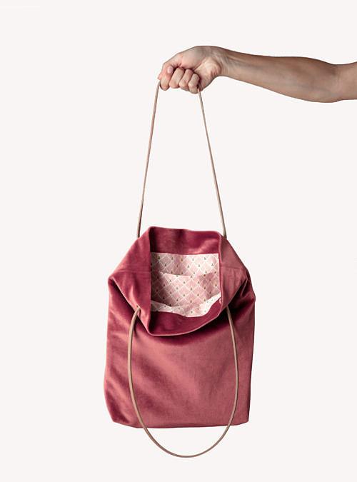 artisanne sac rose framboise ouvert