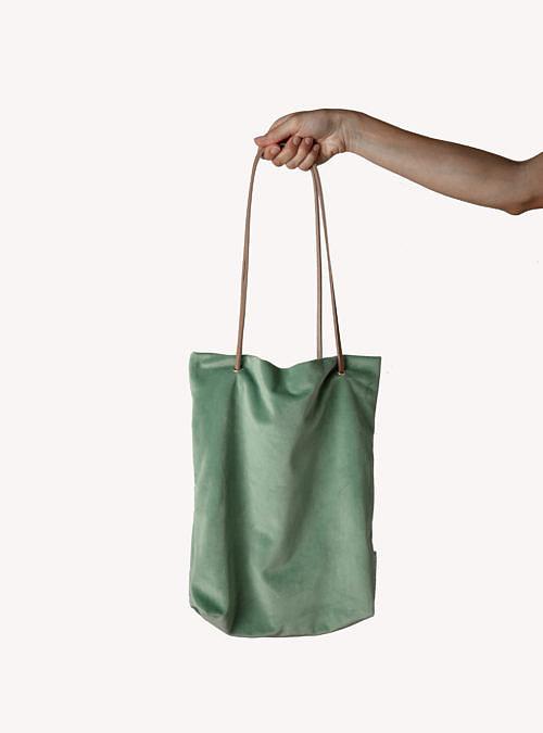 artisanne sac vert eau