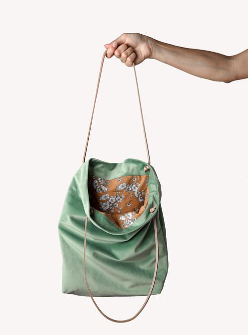 artisanne sac vert eau ouvert