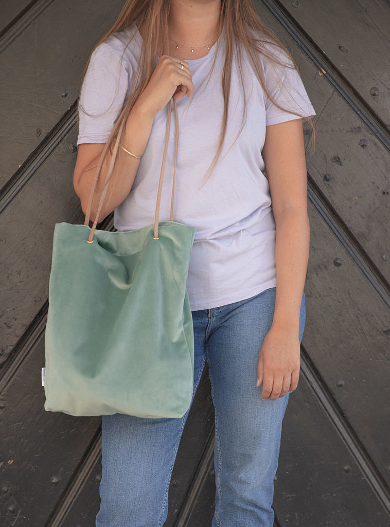artisanne sac vert eau porte