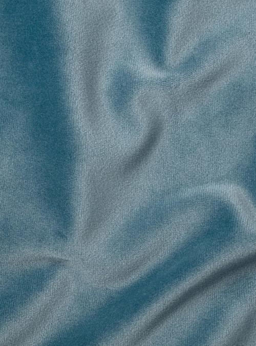 artisanne velours bleu clair