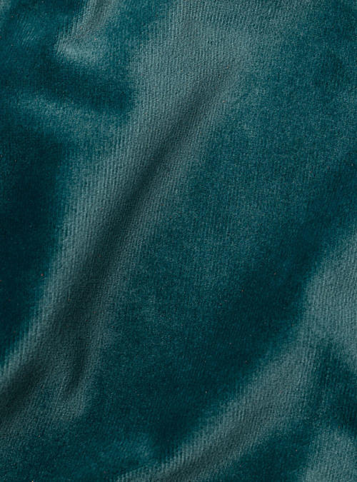 artisanne velours bleu petrole