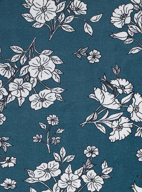 artisanne interieur fleurs bleu